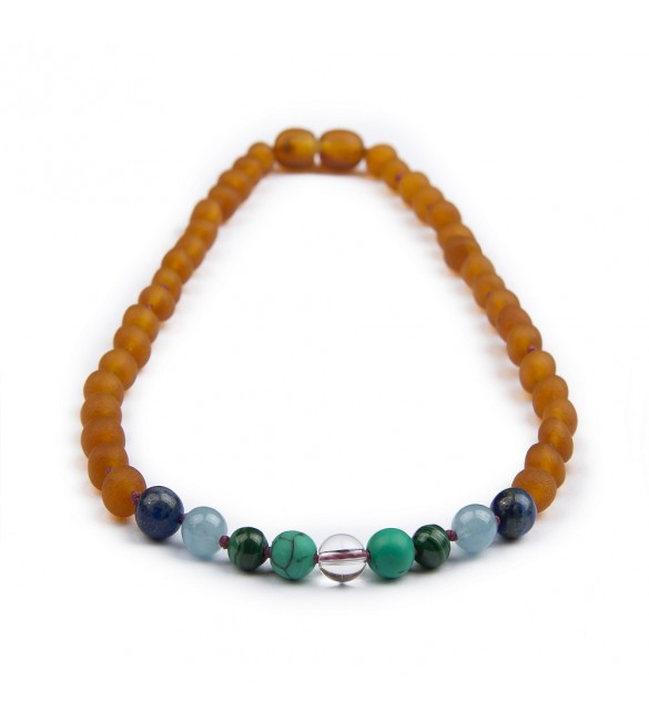 Amber teething necklace - Gemstone - Honey Raw