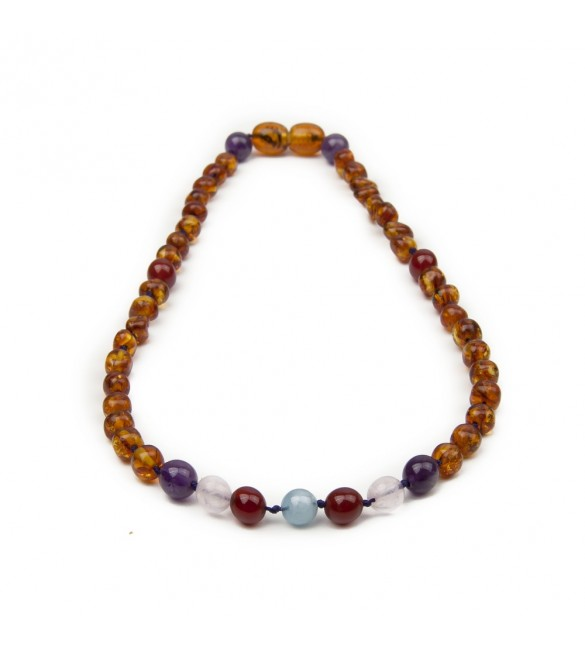 Amber teething necklace for baby - Gemstones
