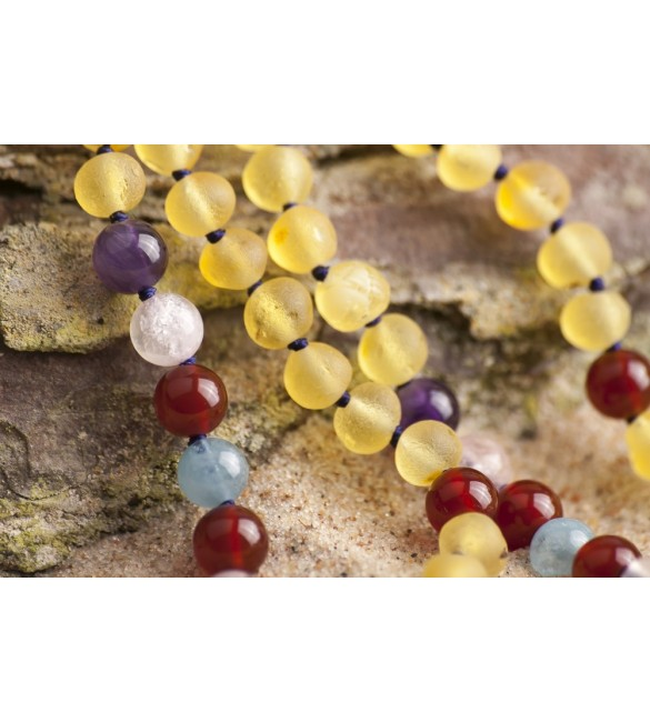 Amber teething necklace - Gemstone - Amber for babies