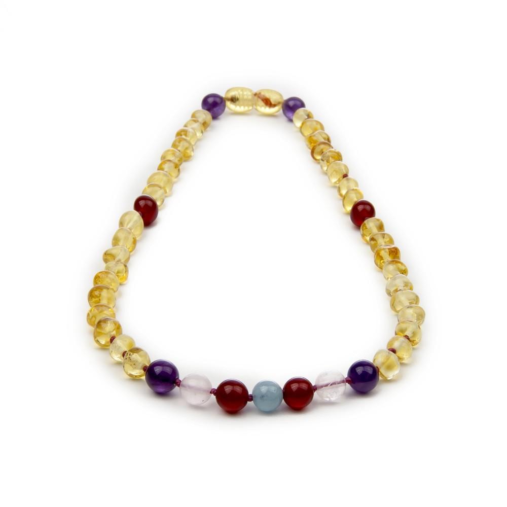 Amber Teething Necklace Gemstone Amber Jewelry