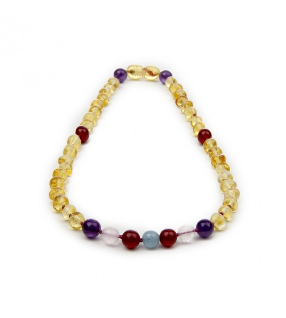 Amber teething necklace - Gemstone - Amber jewelry