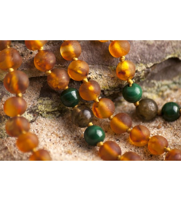 Amber teething necklace - Gemstones - Amber and gemstones for healing