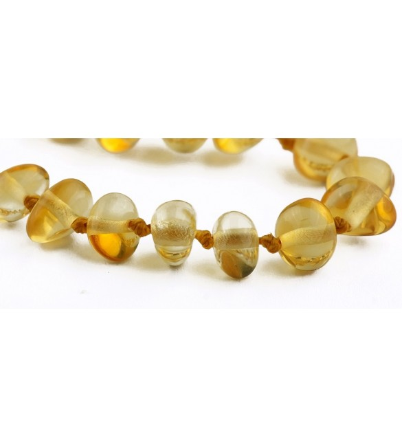 Amber baby Bracelets Polished Lemon