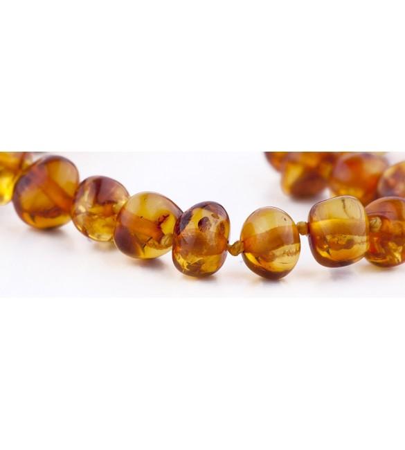 Amber baby Bracelets Polished Cognac