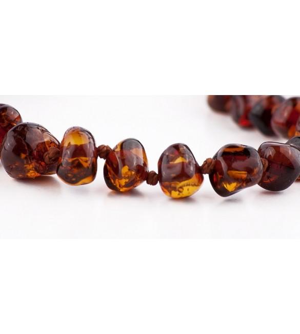 Amber baby Bracelets Polished Dark Cognac