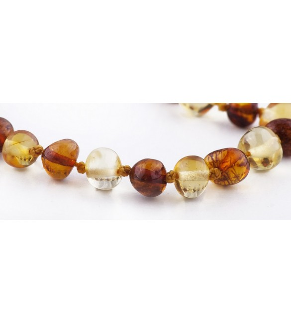 Amber baby Bracelets Polished 1x1 Honey x Lemon