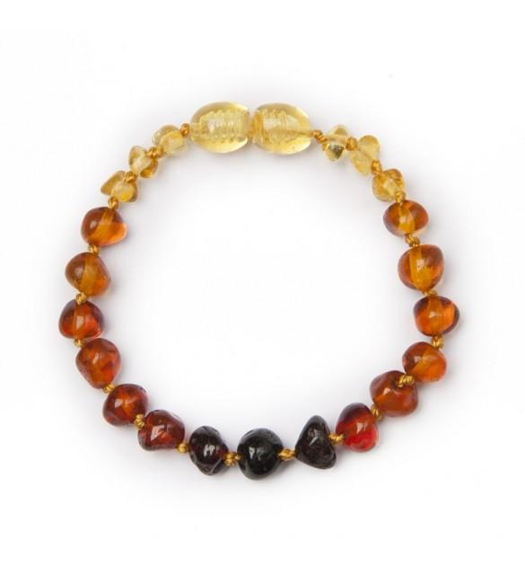 Amber baby Bracelets Polished Rainbow