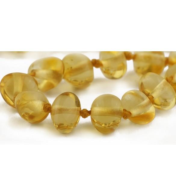 Amber Adult Bracelets Baroque Polished Lemon