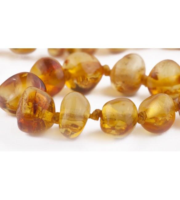 Amber Adult Bracelets Baroque Polished Honey