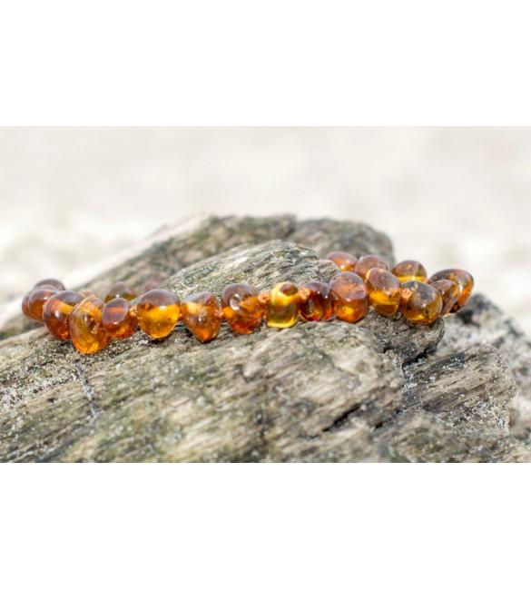 Amber Adult Bracelets Baroque Polished Cognac