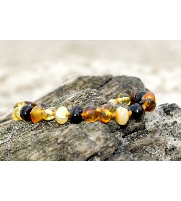 Amber Adult Bracelets Baroque Polished Mix