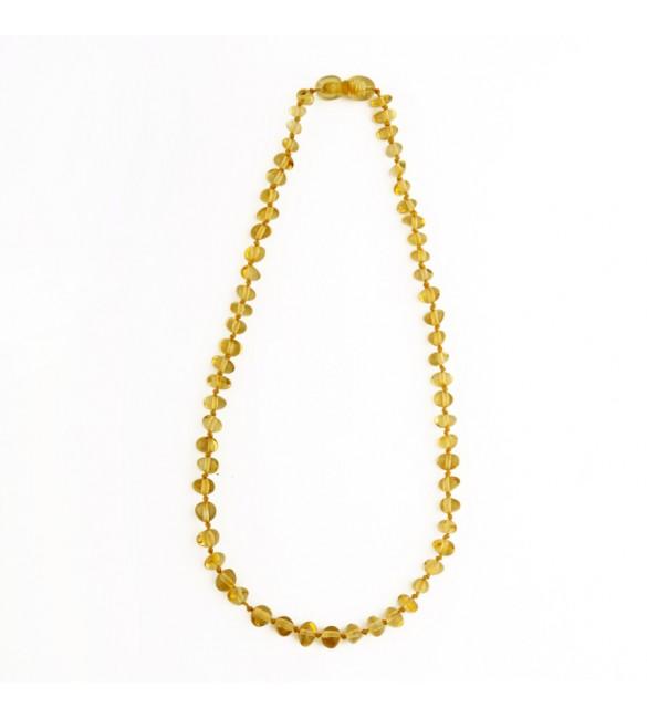 Amber baby necklace Baroque Polished Lemon