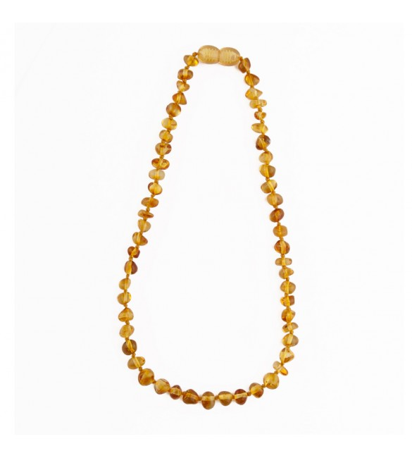 Amber baby necklace Baroque Polished Honey