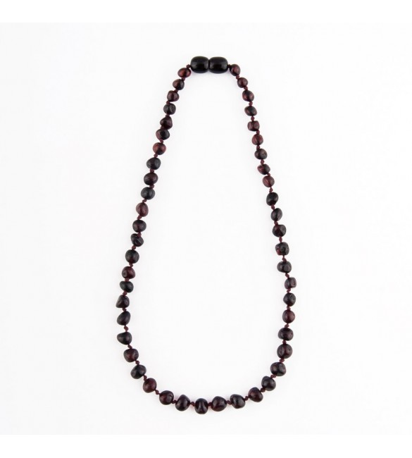 Amber baby necklace Baroque Polished Cherry