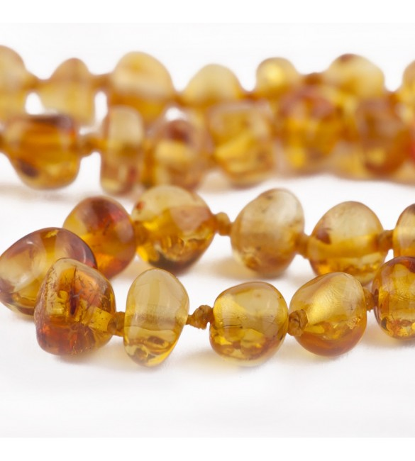 Amber Adult necklace Baroque Polished Honey