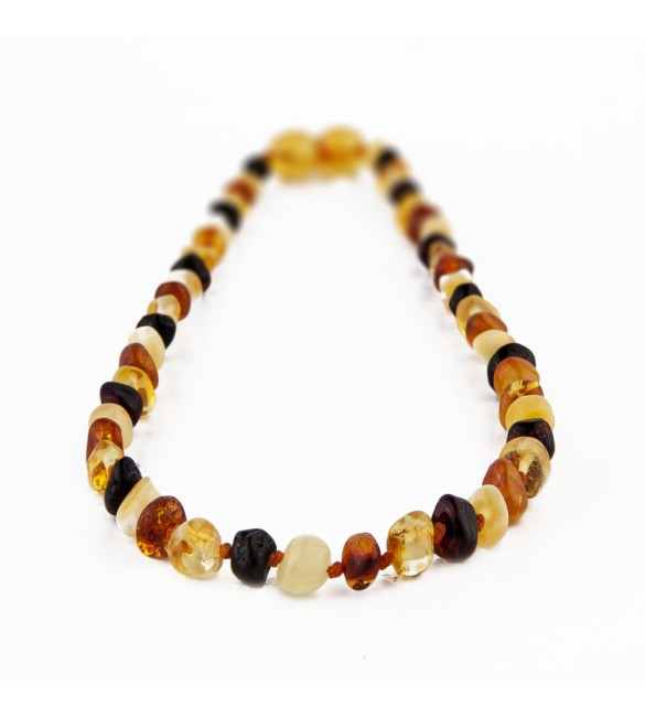 Amber Adult necklace Baroque Polished Mix