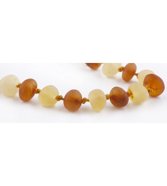 Amber baby Bracelets Baroque Raw 1x1 Honey-Lemon