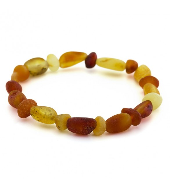 Amber Adult Bracelets Bean/Baroque Raw