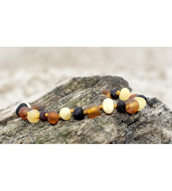 Amber Adult Bracelets Baroque Raw Mix