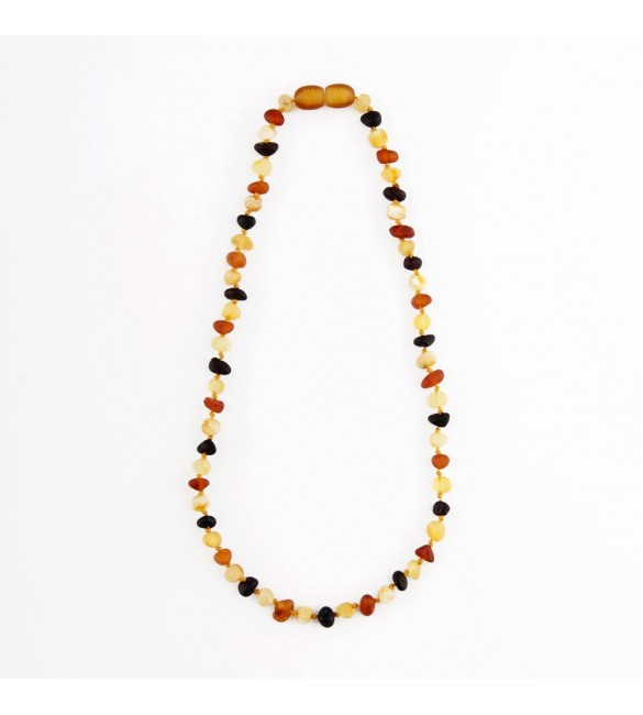 Amber baby necklace Baroque Raw Mix