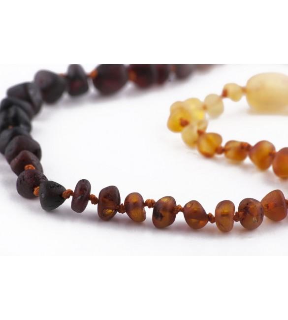 Amber baby necklace Baroque Raw Rainbow