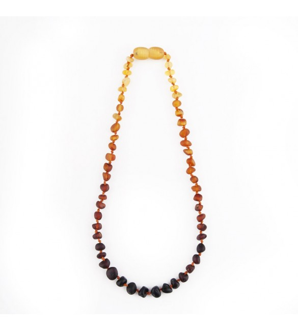 Amber baby necklace Baroque Raw Rainbow