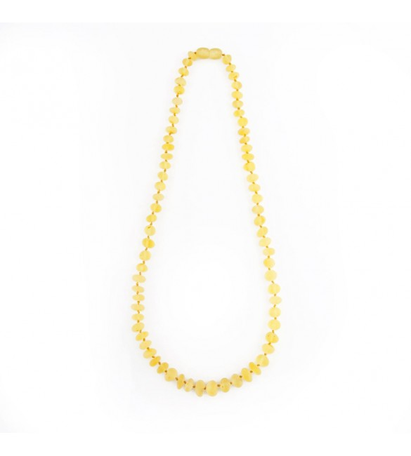Amber baby necklace Baroque Raw Milky