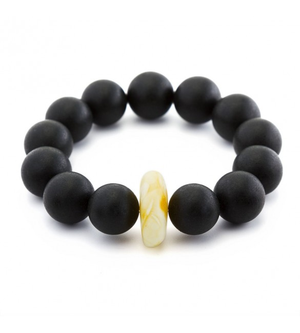 Luxury Black Amber Round bracelet for HER