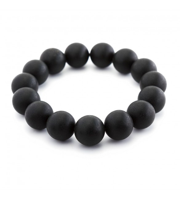 Luxury Black Amber Round bracelet for Both