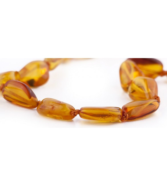 Amber baby Bracelets Bean Polished Honey