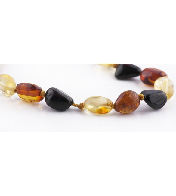 Amber baby Bracelets Bean Polished Mix