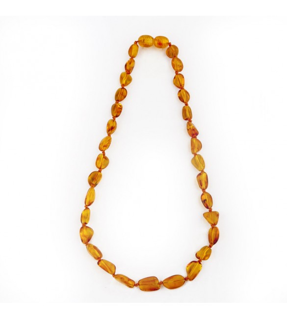 Amber Baby necklace Bean Polished Honey